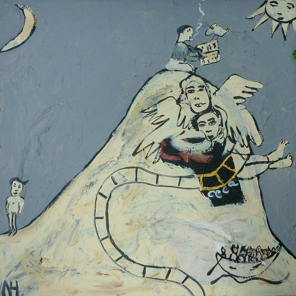 MOUNTAIN OF MADNESS, 2008, 60 x 60 cm, canvas