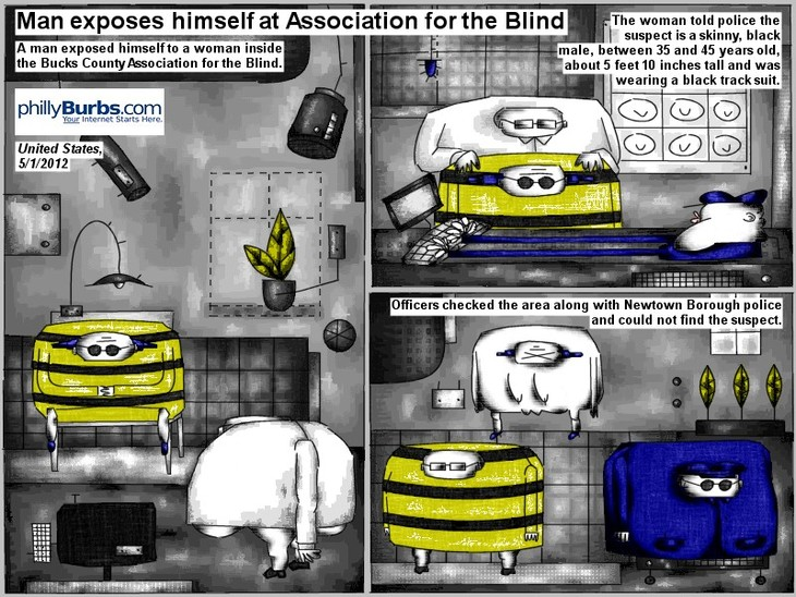 Man exposes himself at association for the blind