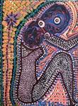 pointillism art israel painter mirit ben nun