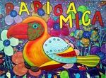 Parrot Mica tells you,a fantastic, true story, contemporary art