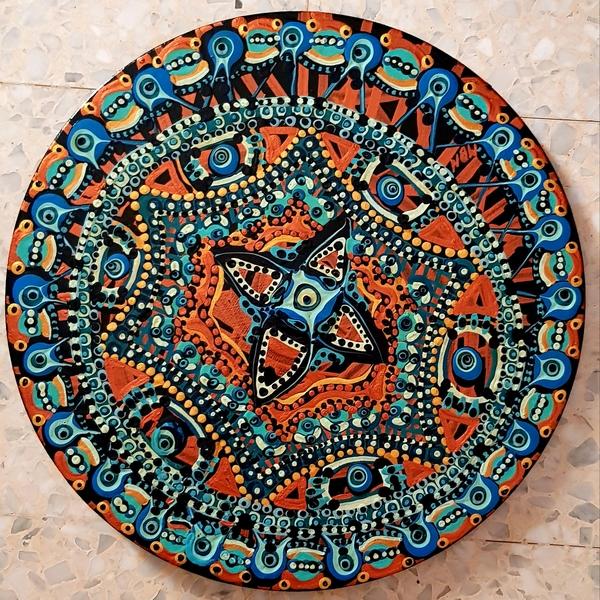 Mandala painting israeli artist Mirit Ben-Nun