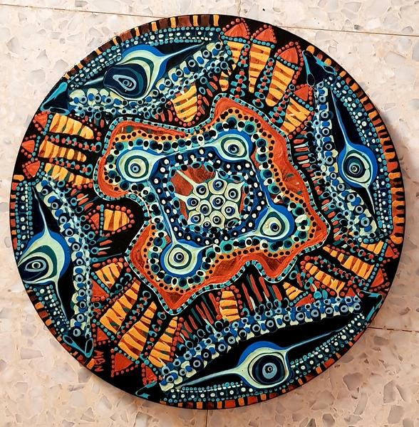 Mandala israeli woman artist Mirit Ben-Nun