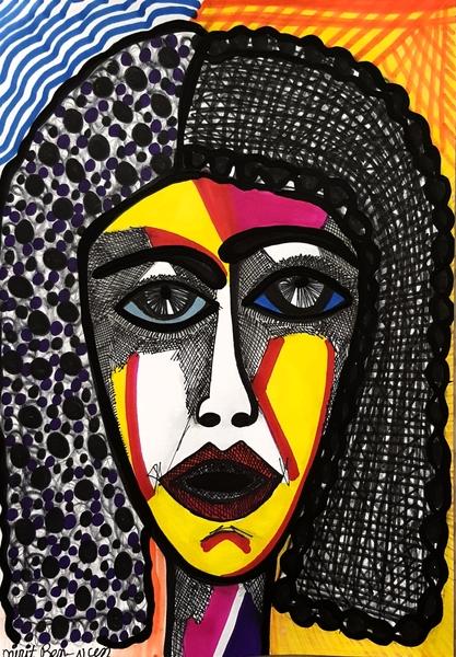 self portrait woman paintings mirit ben nun israel
