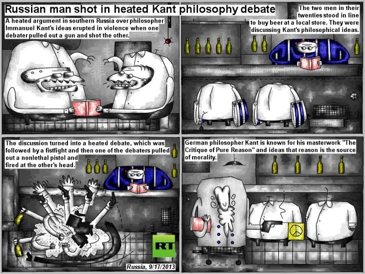 Man shot in heated Kant philosophy debate