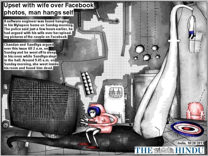 Upset over Facebook photos, man hangs self