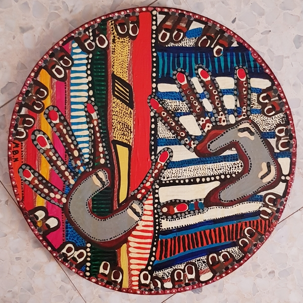 israeli mandala art mirit ben nun acrylic paintings