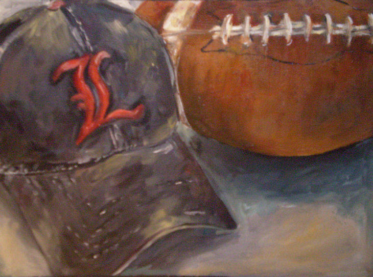 Untitled (Hat and Football)