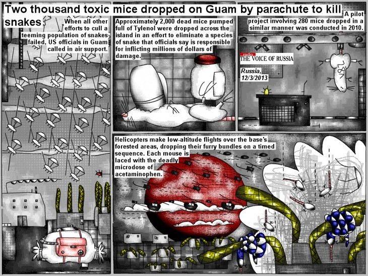 Two thousand toxic mice dropped on Guam