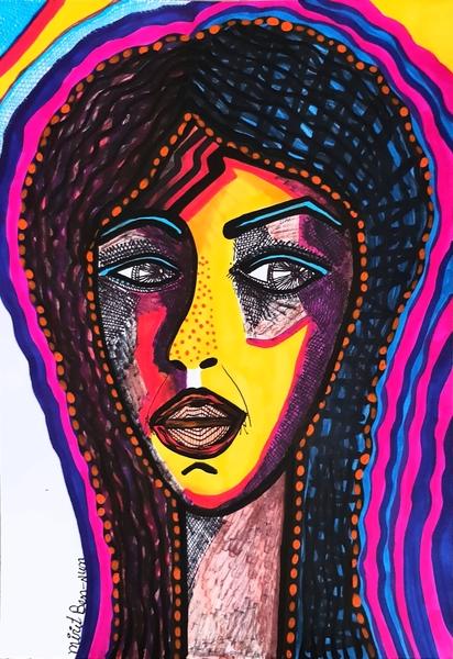 mask paintings mirit ben nun jewish artist