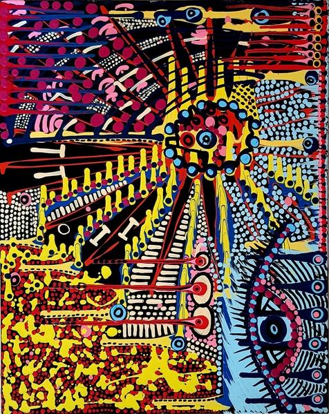 Artista de vanguardia moderna puntillista Mirit Ben-Nun