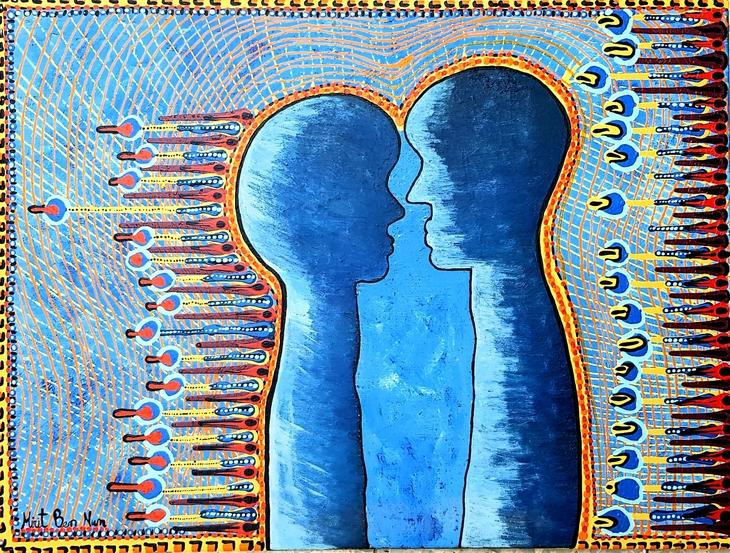 israeli art acrylic paintings mirit ben nun modern art