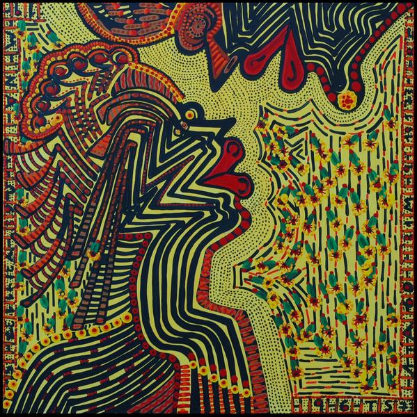 Puntillismo cuadros acrilico artista israeli Mirit Ben-Nun