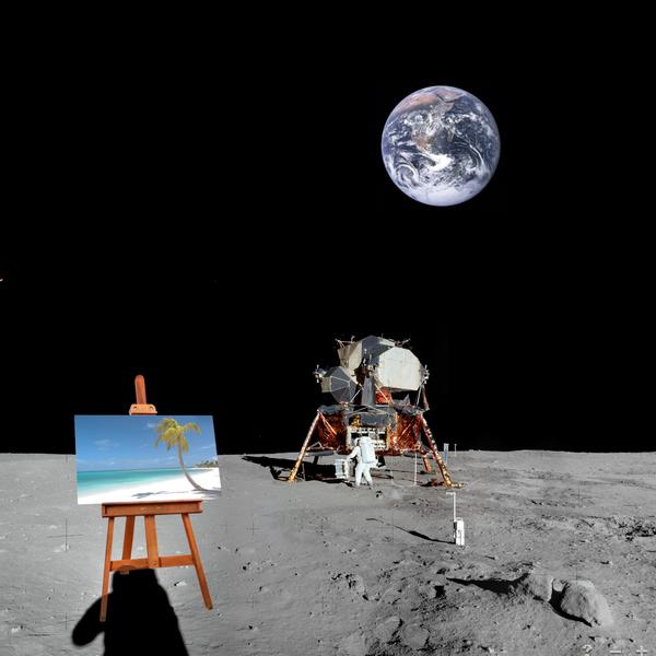 lunar beach earth