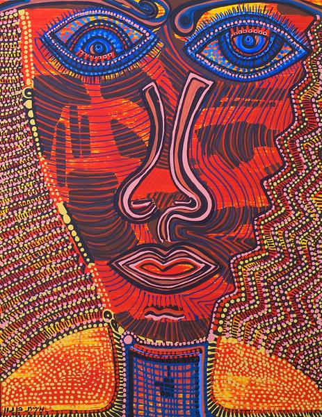 Obra de arte etnico desde Israel