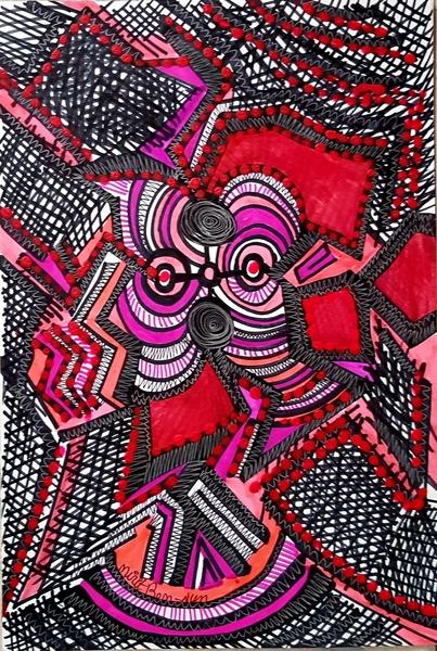 Dibujo expesivo artista mujer israeli latina desde Israel