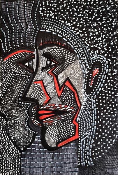 Isralei female artist modern portrait for sale Mirit Ben-Nun