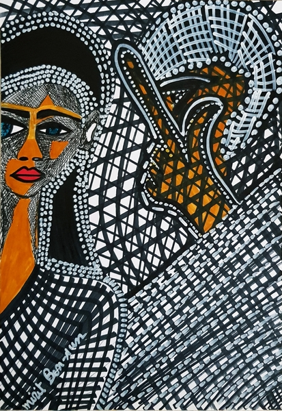 Artist from Israel Mirit Ben-Nun drawings and paintings for sale