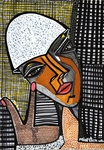 Isralei female artist modern portrait for sale Mirit Ben-Nun