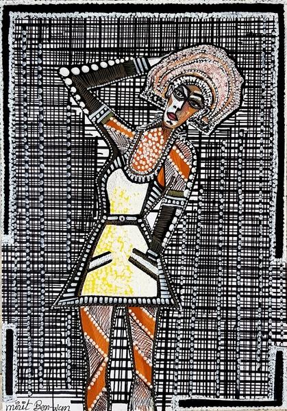Mirit Ben-Nun modern painter original drawings for sale