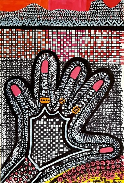 Mirit Ben-Nun moderno dibujo en tinta