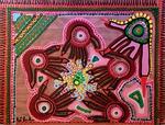 hands painting israeli acrylic art mirit ben-nun