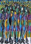 Israeli painter modern drawings for sale Mirit Ben-Nun