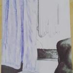 Vorhang und Heizung