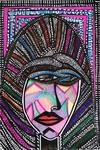 face art paintings mirit ben nun modern artist israel