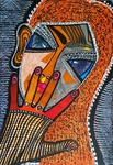 Hamsa against evil eye modern artist Mirit Ben-Nun