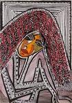 black and white drawings mirit ben nun isareli modern art