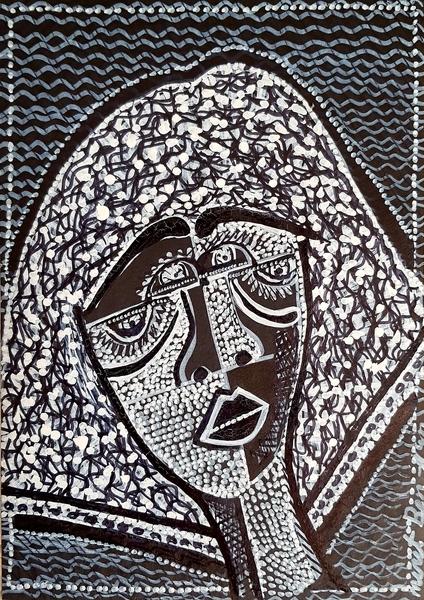 Pintores israelies venta dibujos caras Israel Mirit Ben-Nun