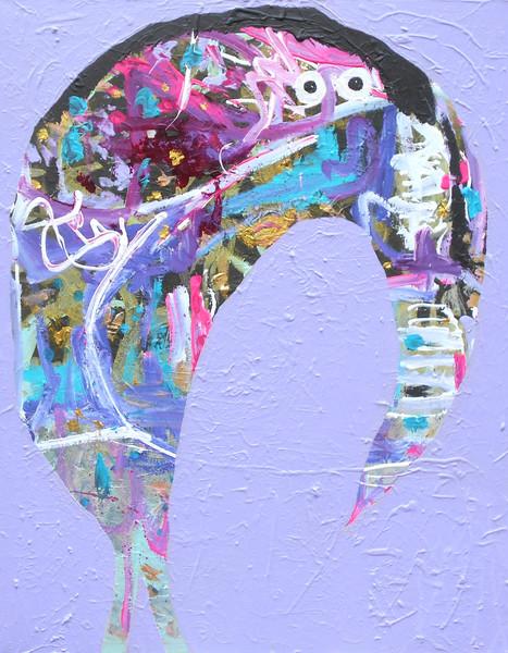 BURROUGHS, 2018, 100 x 80 cm, canvas