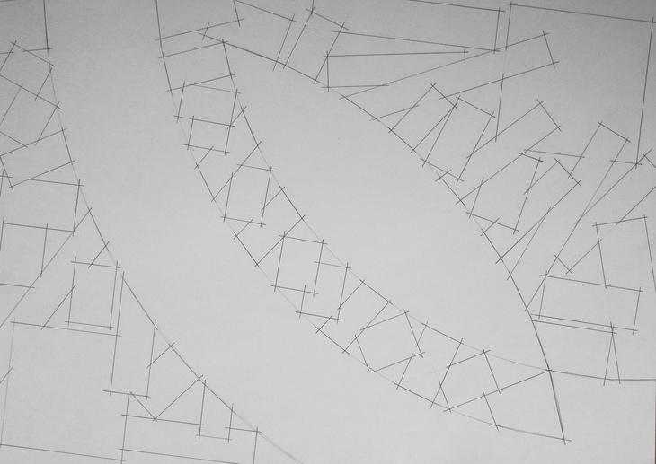 Zeichnung 2019 (Entwurf für Wandobjekt