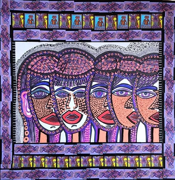 Israeli artists modern drawings for sale Mirit Ben-Nun