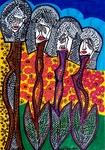 flowers apintings israel mirit ben nun artist