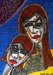 couples paintings mirit ben nun israeli modern artist