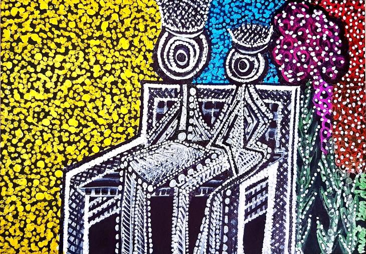 Israeli art Israel painter modern couple drawings for sale