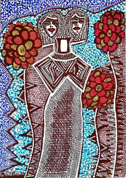 Artwork in Israel modern couple drawings for sale