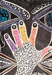 hands paintings modern israel art mirit ben nun