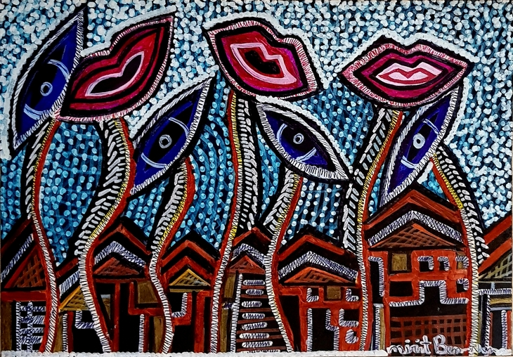 rural landscape paintings mirit ben nun modern art israel