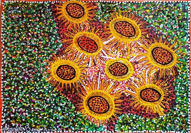 Flores arte moderno Israeli Mirit Ben-Nun