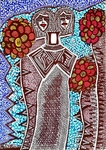 couple art painting mirit ben nun israeli modern artist