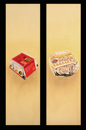 Big Mac Versus Whopper Diptych