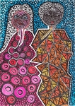 couple artwork mirit ben nun israeli modern artist