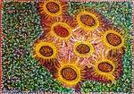 flower artwork israel mirit ben nun artist modern paintings