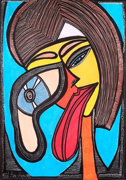 Masks expressive artwork from Israel Mirit Ben-Nun