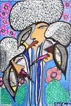 Psychedelic artwork modern israeli artist