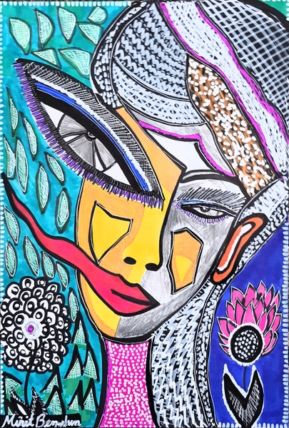 Psychedelic modern israeli artwork Mirit Ben-Nun