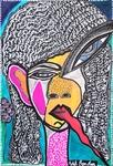 Psychedelic artwork modern israeli artist Mirit Ben-Nun