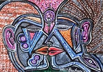 couple in love israel painting mirit ben nun modern artist